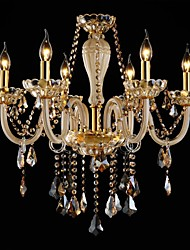 Modern Crystal Chandelier Six Lights Glass and Crystal 220~240V