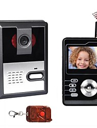 Wireless 2.4inch Portable LCD Color Screen Video Doorphone PY-3224BP