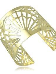 la moda de punk contraído fan de oro pulseras brazalete hueco