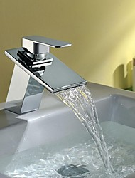 Charmingwater Centerset Single Handle One Hole in Chrome Bathroom Sink Faucet