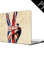 """bandera del Reino Unido y el que sí diseño de la caja de plástico de protección de cuerpo completo para el MacBook Pro de 13 """"/ 15"""" (no retina)"""