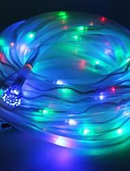 Multicolor Solar Powered Tube Rope 100 LED String Light Lamp Garden Party Decor