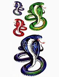 1pc Cobra Snake Animal Waterproof Tattoo Sample Mold Temporary Tattoos Sticker for Body Art(18.5cm*8.5cm)