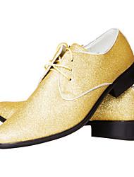 TPU Gold Dress Shoes