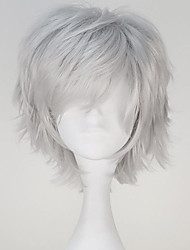 Tokyo Ghoul Kaneki Ken Short Straight Silvery Grey Color Anime Cosplay Wig