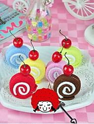 Birthday Gift Swiss Roll Shape Fiber Creative Towel (Random Color)
