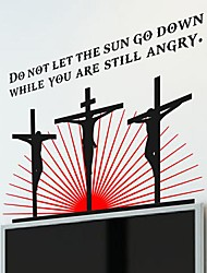 Wall Stickers Wall Decals,  Modern The cross of Jesus PVC Wall Stickers