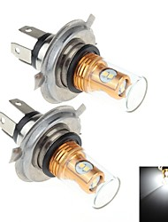 2Pcs H4 8W  8x Samsung 2323 SMD 900lm 6000k White Light LED For Car Brake / Signal Steering / Fog Light Lamp (DC10~30V)
