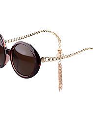 Policarbonato rodada moda óculos escuros 100% UV400 das mulheres