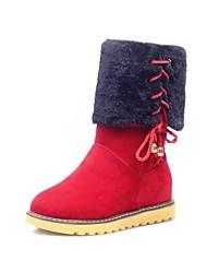 zapatos de las mujeres del dedo del pie redondo rodilla botas altas de tacón bajo más colores disponibles