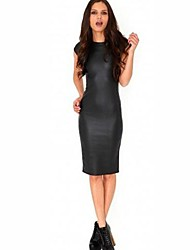 Women PU Dress