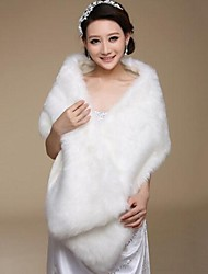 Fur Wraps Wedding  Wraps Shawls Sleeveless Faux Fur Wedding Party/Evening
