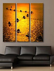 Stretched Canvas Art The Ship's Procession Of Decorative Painting  Set of 3