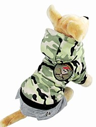DT Pet Camouflage Air Force Style Cotton Clothes Pet winter Costume(Assorted Sizes)