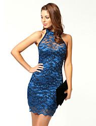 Ricci Women's Sleeveless Lace Sexy Bodycon Dress