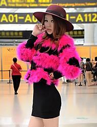Women's Ostrich Hair Fur Jacket