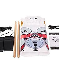 portable coloré roll up kit de batterie électronique pliable USB numérique midi retrousser apprentissage du tambour&éducatif tambour w1008