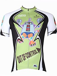 ILPALADINO Cycling Jersey Men's Short Sleeve Bike Jersey Tops Quick Dry Ultraviolet Resistant Breathable 100% Polyester CartoonSpring