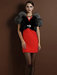 Wedding Faux Fur Coats/Jackets Sleeveless Fur Wraps