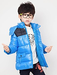 Boy's Fashion Joker with Hooded Thickening Warm Coat
