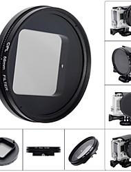 Fat Cat 58mm Converter + CPL Filter Circular Polarizer Lens Filter for GoPro Hero4 Hero3+ Housing - Black