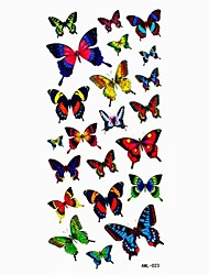 Waterproof Lovely Butterfly Temporary Tattoo Sticker Tattoos Sample Mold for Body Art(18.5cm*8.5cm)