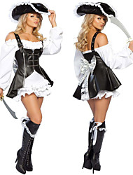 Costumes - Pirate - Féminin - Halloween/Carnaval - Chemisier/Robe/Chapeau
