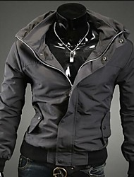Manlodi Men's Zipper Single Brest Jacket