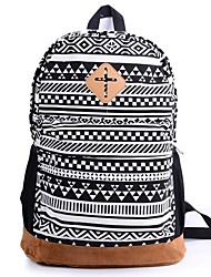 Women's Floral Nationality Canvas School Bag Travel Backpack