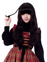 Zipper Vivid Girl Black 33.59cm Bunches Wig Sweet Lolita Wig