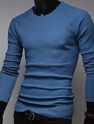 Men's Round Collar Slim Long Sleeve sweater