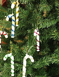 Merry Christmas Cane Decoration-Set of 6
