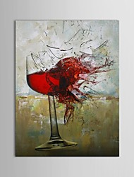 IARTS®Hand Painted Oil Painting Still Life Wine Glass Crush with Stretched Frame