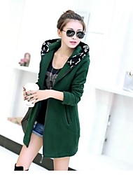 Women's   Autumn Winter Styles Fashion  Warm Hoodie Loose  Long Coat
