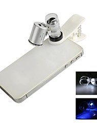 Universal 60X Microscope Lens Set for Iphone / Ipad / Samsung / HTC + More Cellphone / Tablet PC