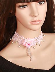 Pink Flower White Lace Sweet Lolita collar