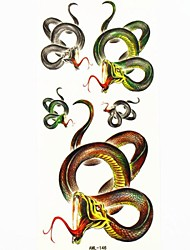 Waterproof Snake Temporary Tattoo Sticker Tattoos Sample Mold for Body Art(18.5cm*8.5cm)