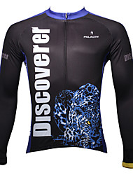 ILPALADINO Cycling Jersey Men's Long Sleeve Bike Breathable Thermal / Warm Quick Dry Ultraviolet Resistant Jersey Tops 100% Polyester