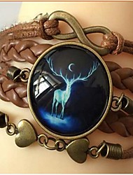 Bracelet bricolage infinie bijou t brun de chaîne en cuir (1 pc)