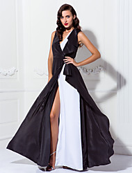 TS Couture® Prom / Formal Evening / Military Ball Dress Plus Size / Petite Sheath / Column V-neck Floor-length Chiffon with Buttons / Split Front