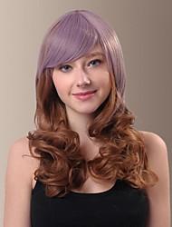 personalidad encantadora kanekalon japonés sintético de alta calidad de las pelucas de cabello largo ondulado