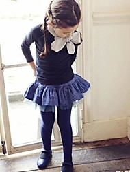 Girl's Blue Tee Cotton Winter / Spring / Fall