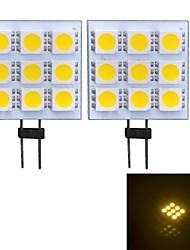 Lampes à Deux broches Blanc Chaud G4 W 9 SMD 5050 90~100 LM 3000~3500 K DC 12 V