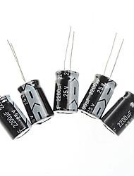 capacitor eletrolítico 2200uf / 25v projeto DIY (10pcs)