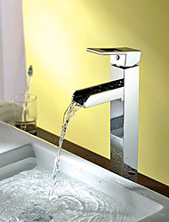 Waterfall Bathroom Sink Faucet Contemporary Chrome Brass Vessel