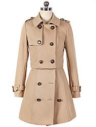 RLK Elegant Slim Windbreaker Coat  6156 Khaki