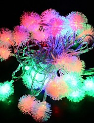 4m 28LED Fuzzy-String-Ball Lichterkette Weihnachten Xmas Party Hochzeitsdekoration