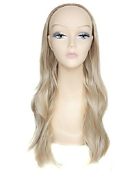 28 Inch Long Half Wig Blonde Big Wave Female Fashion High Temperature Fiber Synthetic Wig