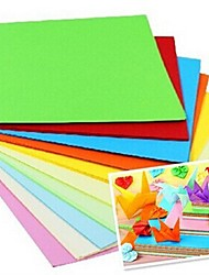 100 unidades papercranes fragrância materiais origami 7 x 7cm (8 cor / pacote cor aleatória)