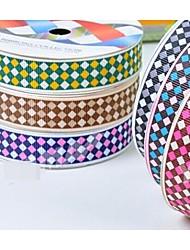 Impression de ruban modèle de double bord de couleur de nervure 3/8 pouces ribbon- 25 mètres par rouleau (plus de couleurs)